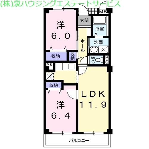 マウントリヴァ2001 3階の物件の間取図