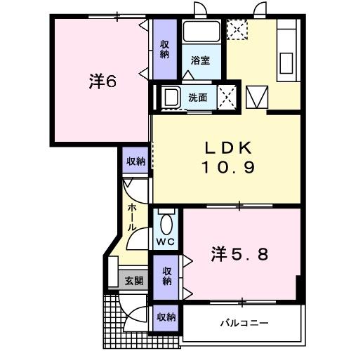 マウントリヴァ2003 Ⅰ 1階の物件の間取図
