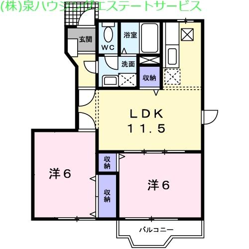 K・レジデンスⅠ 1階の物件の間取図