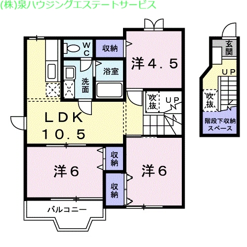 K・レジデンスⅡ 2階の物件の間取図