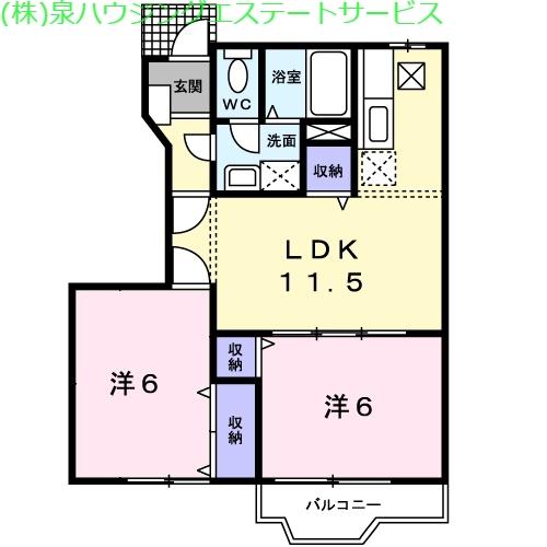 オーパスⅠ 1階の物件の間取図