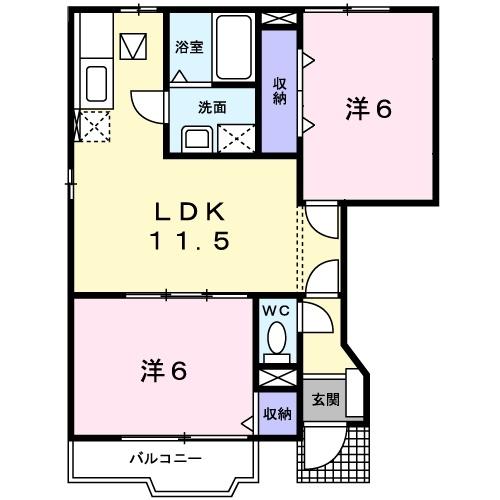 ヴィラ サンライズ ドリームⅠ 1階の物件の間取図
