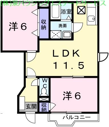 サンバティークⅡ 1階の物件の間取図