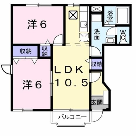 ソフィーシアA 1階の物件の間取図