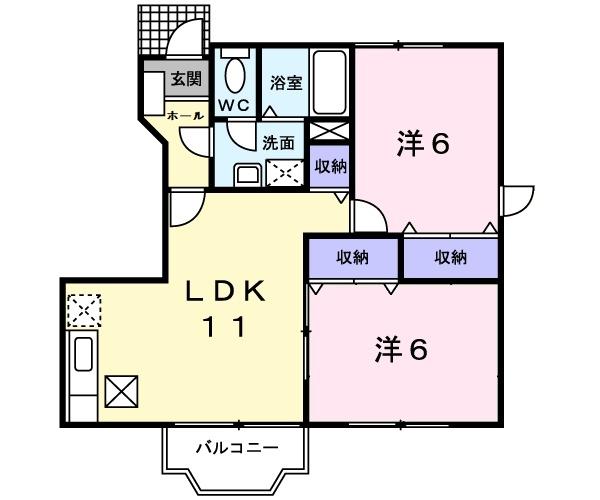 エヌ.アメニティA 1階の物件の間取図