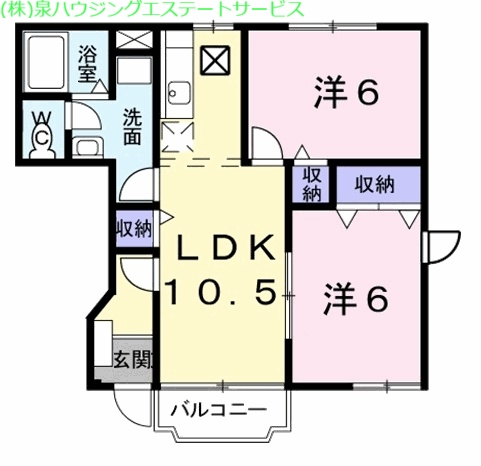エヌ.アメニティC 1階の物件の間取図