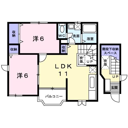 オーパスⅣ 2階の物件の間取図