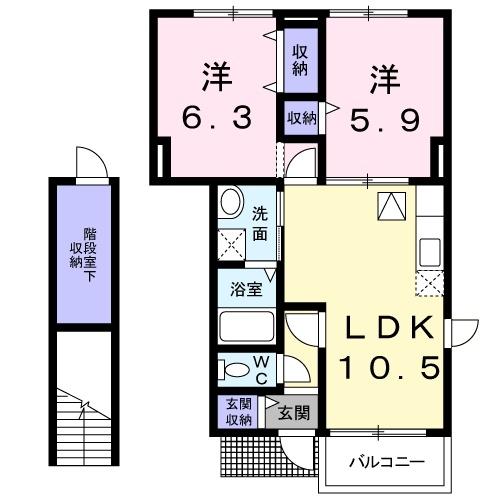 エトワール・パレⅠ 1階の物件の間取図