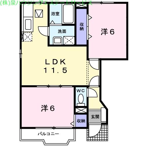 ロメオ エステートⅡ 1階の物件の間取図