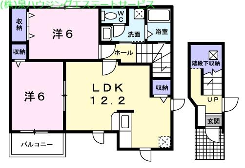 エレガンシアⅠ 2階の物件の間取図
