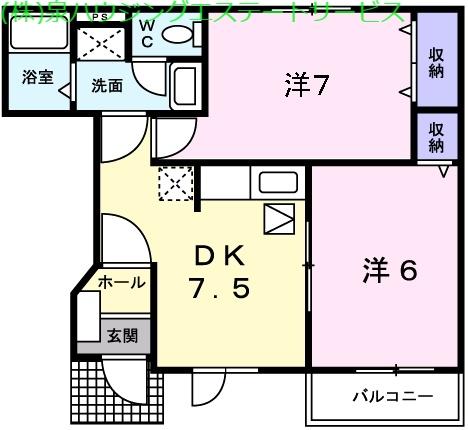 エレガンシアⅡ 1階の物件の間取図