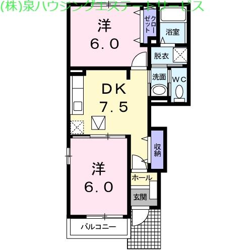 ブリズⅢ 1階の物件の間取図