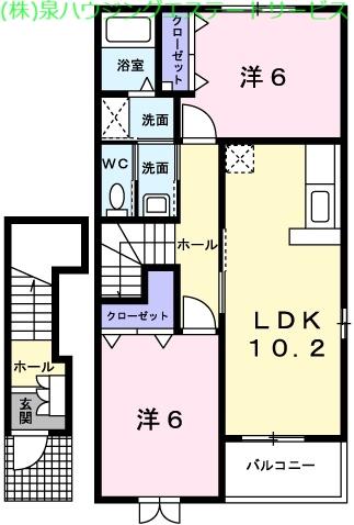 ブリズⅢ 2階の物件の間取図