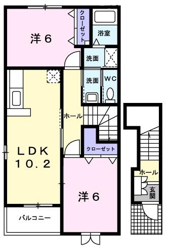 ブリズⅣ 2階の物件の間取図