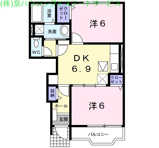 ミーツハオス 1階の物件の間取図