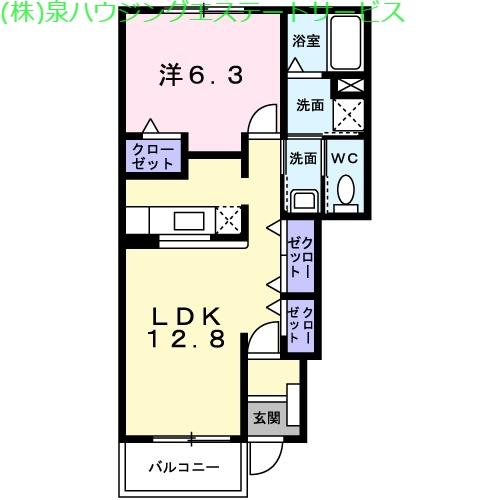 マウントリヴァⅥ 1階の物件の間取図