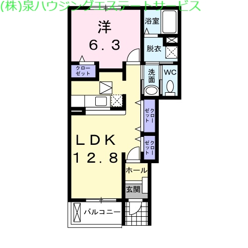 マウントリヴァⅦ 1階の物件の間取図