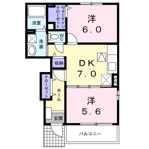 フォンテーヌⅦ 1階の物件の間取図
