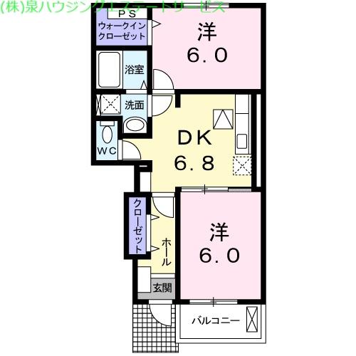 イーストブロードⅡ 1階の物件の間取図