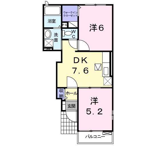 ノースブロード 1階の物件の間取図
