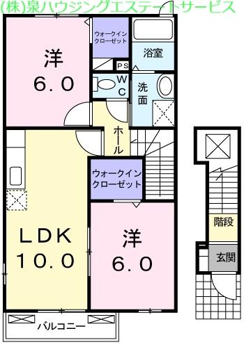 ノースブロード 2階の物件の間取図