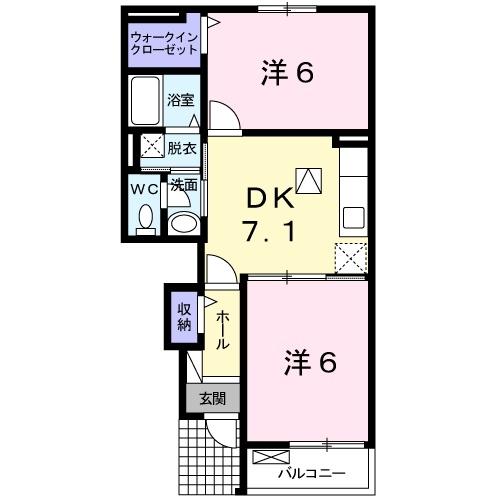 パティオ Ⅱ 1階の物件の間取図