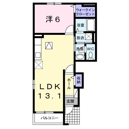 ヴィラ サンライズ ドリームⅢ 1階の物件の間取図