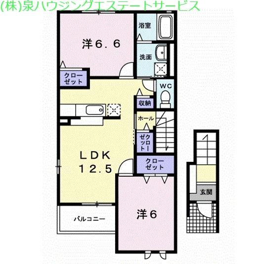 サリュー Ⅰ 2階の物件の間取図