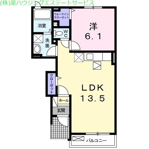 シャルロットⅢ 1階の物件の間取図