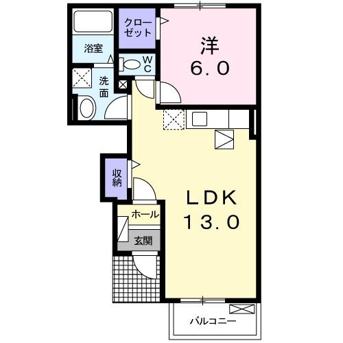 ラシュレⅡ 1階の物件の間取図