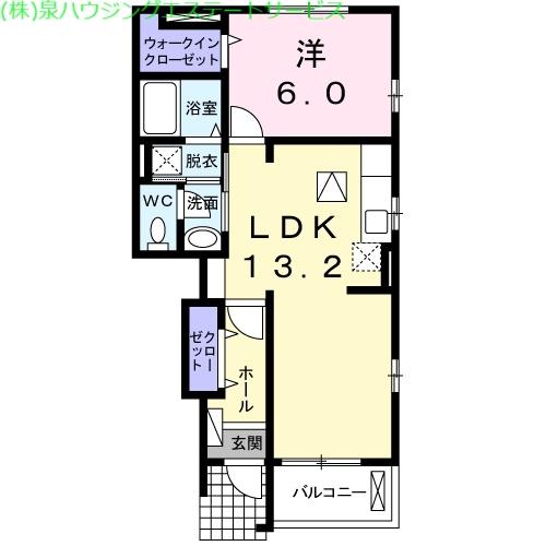 メゾンブリーズⅥ 1階の物件の間取図