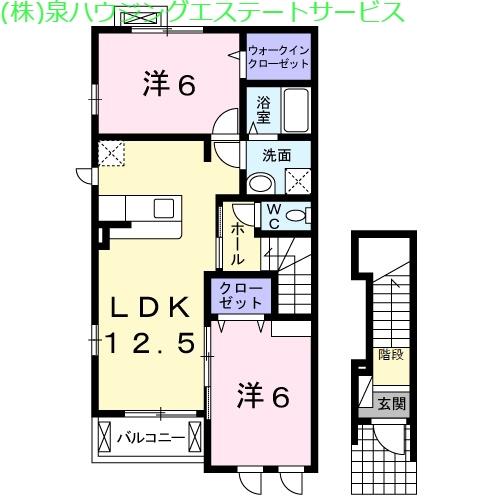 メゾンブリーズⅥ 2階の物件の間取図