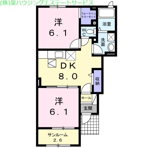 サリュー Ⅳ 1階の物件の間取図