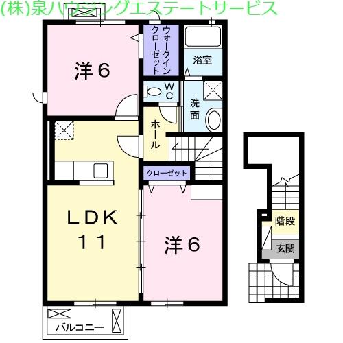 サンビトレス Ⅱ 2階の物件の間取図