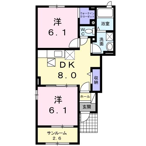 メゾンブリーズⅨ 1階の物件の間取図
