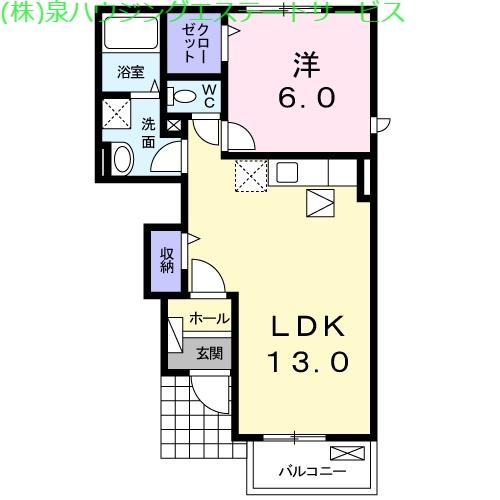 フォーシーズンⅠ 1階の物件の間取図