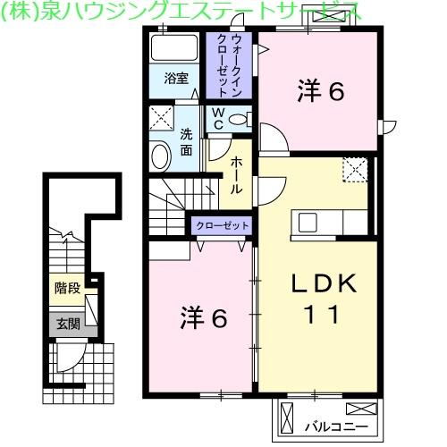 フォーシーズンⅠ 2階の物件の間取図