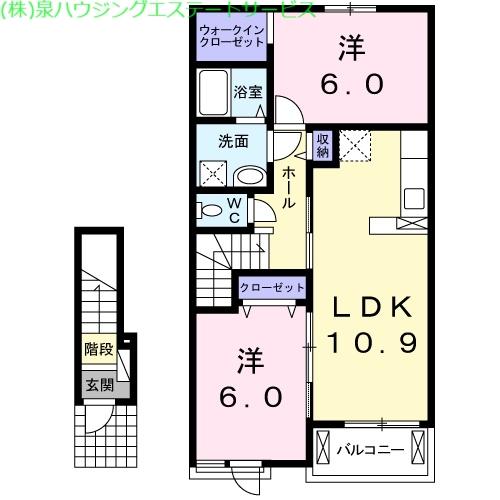ライツ 2階の物件の間取図