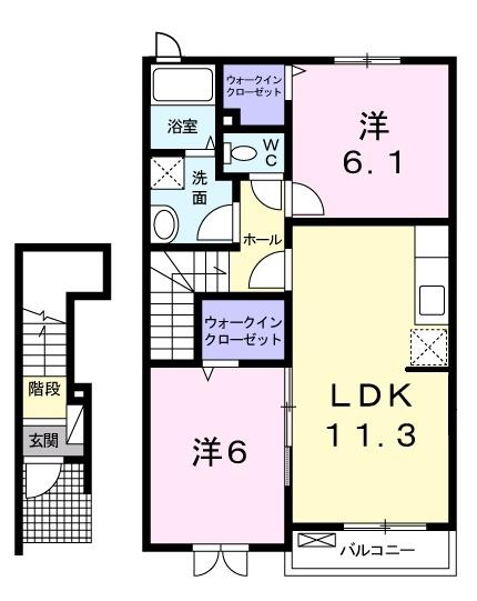 サンシャイン ガーデン 2階の物件の間取図