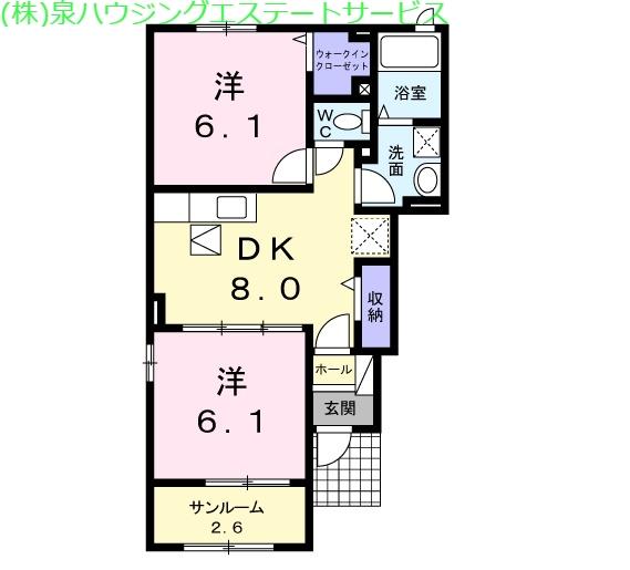 アルファードA 1階の物件の間取図