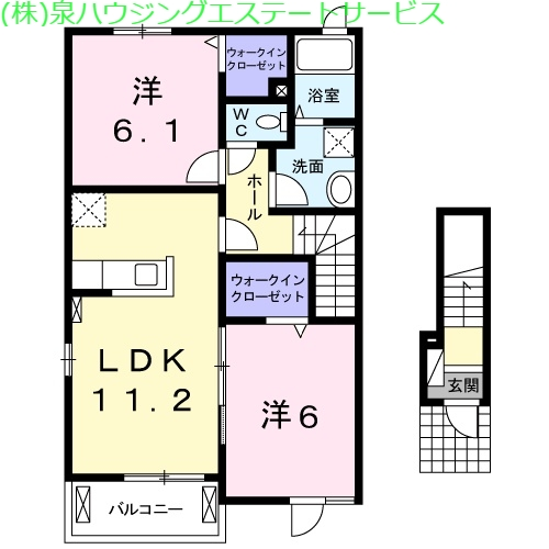 アルファードA 2階の物件の間取図