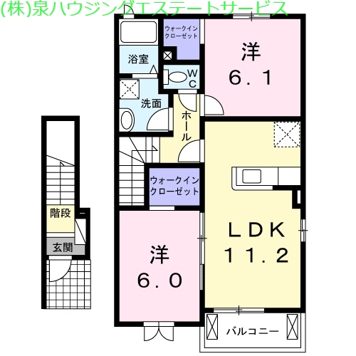アルファードB 2階の物件の間取図