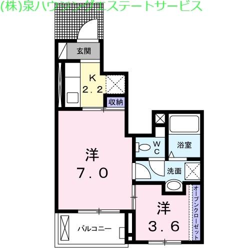 ピボットⅡ 1階の物件の間取図