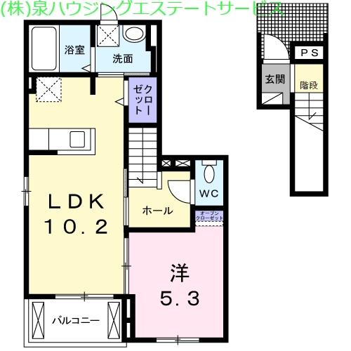 ピボットⅡ 2階の物件の間取図