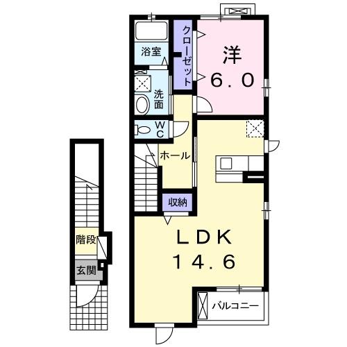 CASA二本松4 2階の物件の間取図
