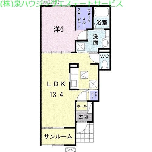 ヴェント 1階の物件の間取図