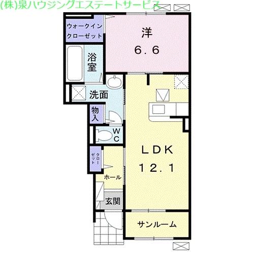 メゾンド・RIN 1階の物件の間取図