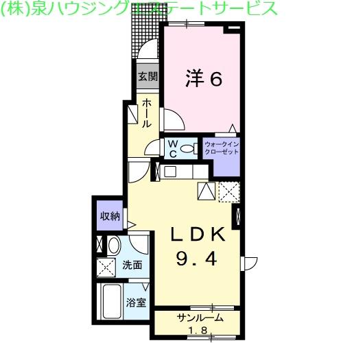 ブリズ・プランタニエール Ⅰ 1階の物件の間取図