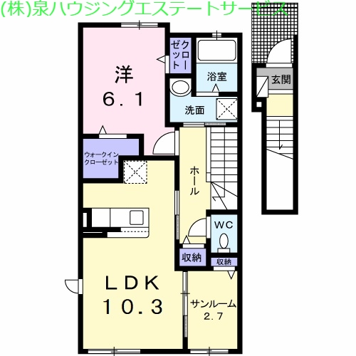 ブリズ・プランタニエール Ⅰ 2階の物件の間取図