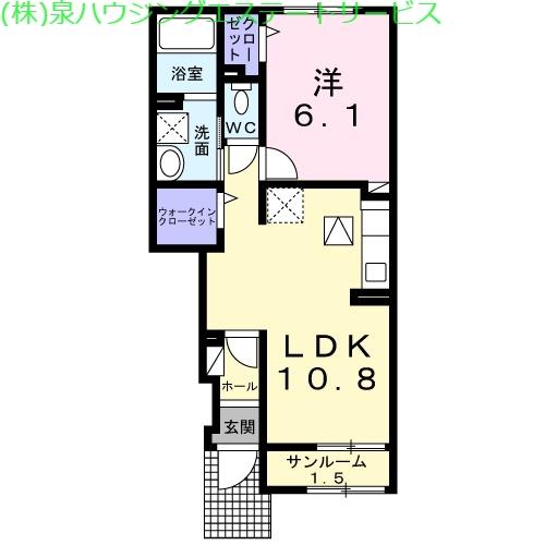 ブリズ・プランタニエール Ⅱ 1階の物件の間取図